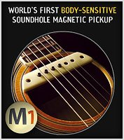 The LR Baggs M-1 Magnetic Soundhole Pickup with body sensing.