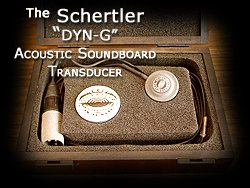 The Schertler DYN G topically applied Soundboard transducer